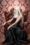 Gotyk i blondynka fotografia stock