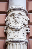 Gotyk kamień deseniująca szpaltowa architektura Obrazy Stock