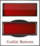 Gotyk, klasyków guziki Zdjęcie Royalty Free