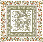 Gotyk. Piękna rama z kwiatu ornamentem. Zdjęcie Royalty Free