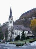 Gotyka kasztel w Liechtenstein evening 2 obraz royalty free