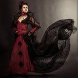 Gotyka stylu modela dziewczyny portret Obraz Stock
