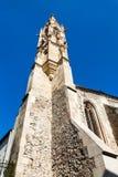 Gotyka wierza Clarissine kościół w Bratislava obraz stock