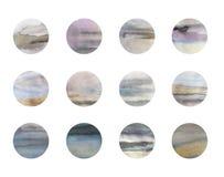 Gouach和墨水手拉的小点提取背景、黑色、蓝色、丁香和金抽象背景 图库摄影