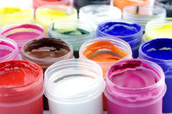 gouache много multicolor краска Стоковые Изображения