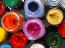 Gouache. Multi-coloured  gouache Royalty Free Stock Photos