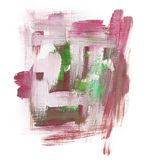 Gouache acrylic art paint brush rough dab stroke Stock Image