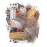 Gouache acrylic art paint brush rough dab stroke Stock Photo