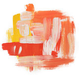 Gouache acrylic art paint brush rough dab stroke Stock Images
