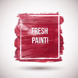 Gouache-brush-red. Vector red watercolor background. Colorful abstract texture. Vector design elements. Vintage background. Vector watercolor splash. Love card Royalty Free Illustration