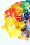 Gouache in jars Stock Images