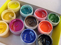 Gouache paint Stock Photo