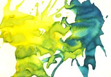 Gouache paint blot isolated on white background, paint background. Gouache paint blot isolated on white background, abstract paint background royalty free illustration