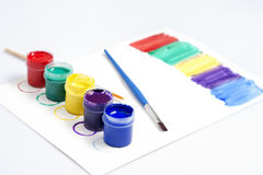 Gouache paint Stock Image