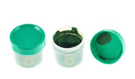 Gouache paint container case isolated Royalty Free Stock Images