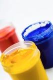 Gouache paint containers Stock Photos