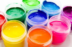 Gouache paint isolated on a white Royalty Free Stock Images