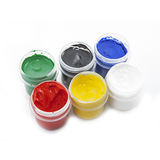 Gouache paint Stock Photos
