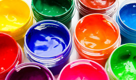 Gouache paint isolated on a white background Royalty Free Stock Images