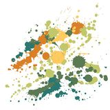 Gouache paint stains grunge background vector. Abstract ink splatter, spray blots, mud spot elements, wall graffiti. Watercolor paint splashes pattern, smear stock illustration