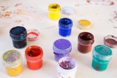 Gouache paint Stock Photo
