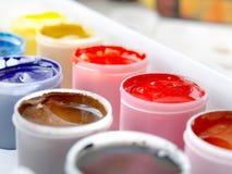 Gouache paints Stock Photos