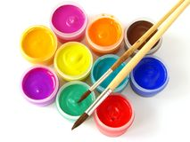 Gouache paints Royalty Free Stock Images