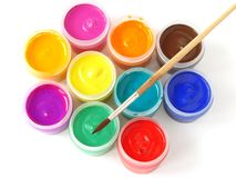 Gouache paints Royalty Free Stock Image