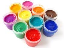 Gouache paints Stock Image
