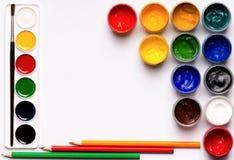 Gouache paints Stock Photography