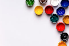Gouache paints Stock Photo