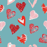 Gouache pattern of hearts Stock Image