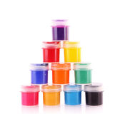 Gouache pots isolated Stock Image