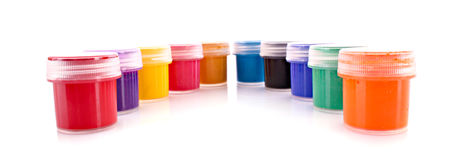 Gouache pots isolated Royalty Free Stock Photo