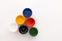 Gouache su un fondo bianco Fotografia Stock