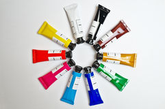 Gouache tubes set Royalty Free Stock Images
