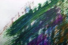 Gouachefarbe gemalt Stockbild