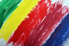 Gouachefarbe gemalt Lizenzfreies Stockbild