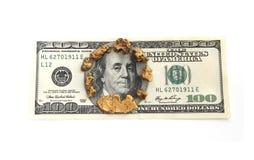 Goud en Dollar stock afbeelding