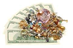 Goud en geld royalty-vrije stock foto's