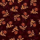 Goud en rozen Stock Fotografie