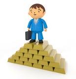 Goud en zakenlieden Stock Afbeeldingen
