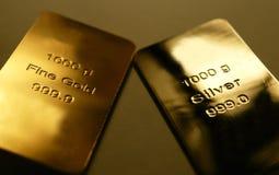 Goud en zilver stock foto