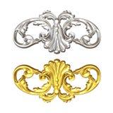 Goud en zilver stock illustratie