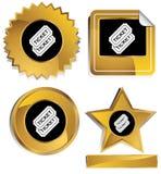 Goud en Zwarte - Kaartjes stock illustratie