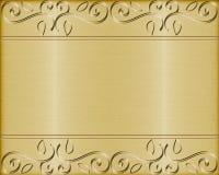 Goud geborstelde metaal vectorachtergrond Royalty-vrije Stock Fotografie