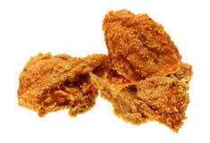 Goud gebraden kip Stock Fotografie