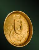 Goud gekleurd verblijfslusje royalty-vrije stock afbeelding