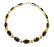 Goud geplateerde halsband Royalty-vrije Stock Foto's