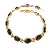 Goud geplateerde halsband Stock Afbeelding